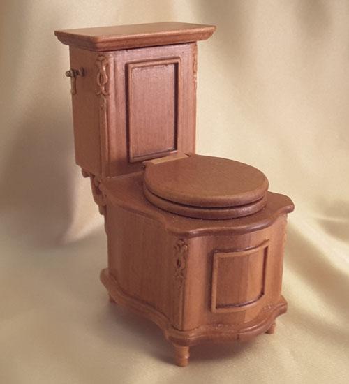 Majestic Mansions Italia Cherry Bathroom Toilet 1:12 scale