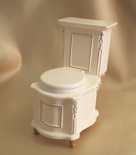 Majestic Mansions Italia White Bathroom Toilet 1:12 scale