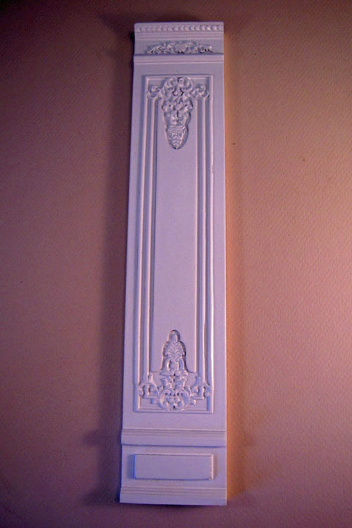 Miniature White French Boiserie Style Decorative Wall Panel 1:12 scale