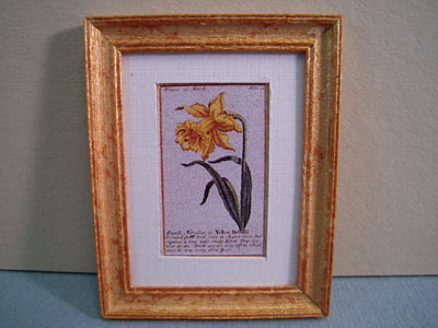 McBay Miniatures Yellow Daffodil Framed Print 1:12 scale