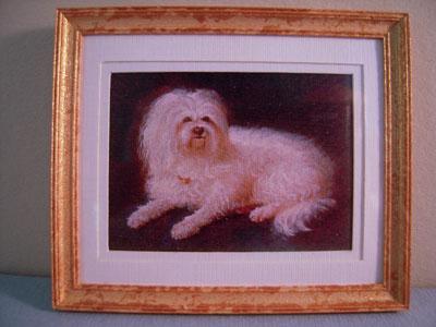 McBay Miniatures Darling Dog Framed Print 1:12 scale