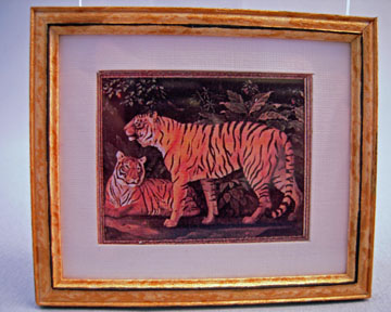 McBay Miniatures Tiger Framed Print 1:12 scale