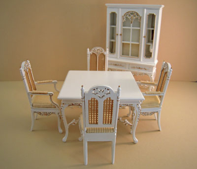 Platinum Collection Six Piece Barrington Dining Room Set 1:12 scale