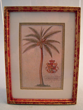 McBay Miniatures Royal Palm Framed Print 1:12 scale