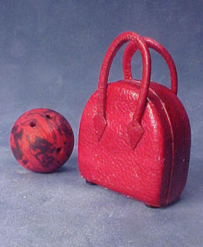Bowling Bag and Ball 1:12 scale