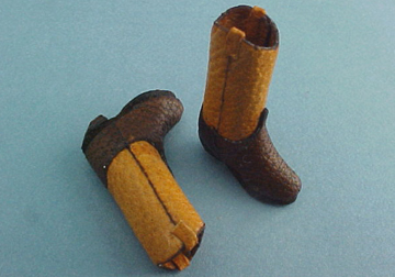 Prestige Leather Miniature Two Tone Boots 1:24 scale