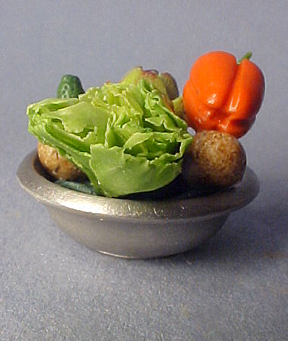 Vegetables in a Bowl 1:12 scale