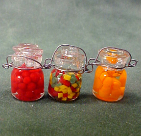 Filled Canning Jars 1:12 scale