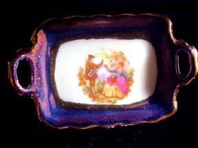 Blue Limoges Dinner Set 1:12 scale