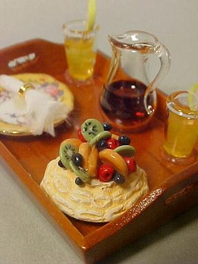 Garden Dessert Tray 1:12 scale