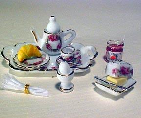 Breakfast Tray Set 1:12 scale