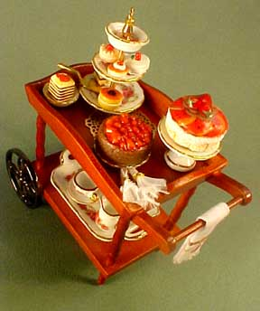 Filled Dessert Cart 1:12 scale