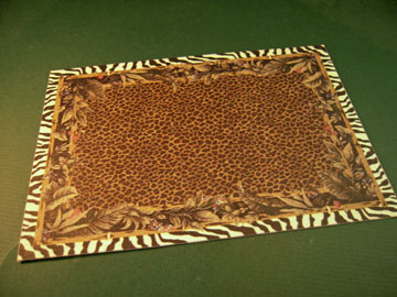 Mc Bay Miniatures Jungle Print Carpet 1:12 scale