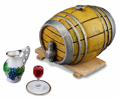 Reutter Porcelain Wine Barrel Set 1:12 scale