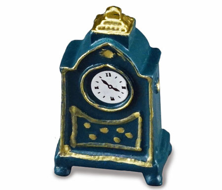 Reutter Porcelain Small Blue Mantle Clock 1:12