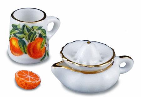 Reutter Porcelain Old Fashion Orange Juicer Set 1:12