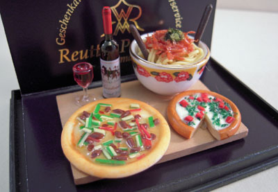 Reutter Porcelain Italian Night Dinner Set 1:12 scale
