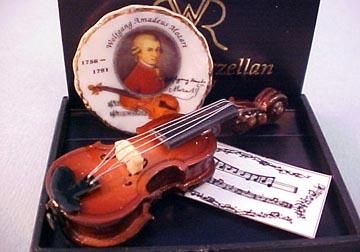Reutter Mozart Violin Set 1:12 scale