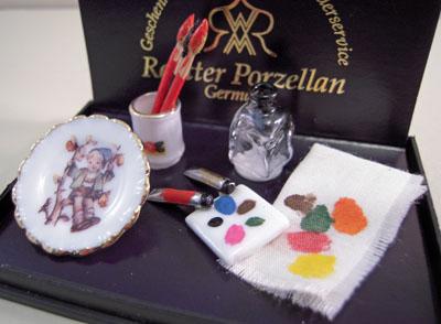 Reutter Porcelain Painter Accessories 1:12 scale