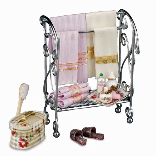 Reutter Porcelain Miniature Bathroom Rack Set 1:12 scale