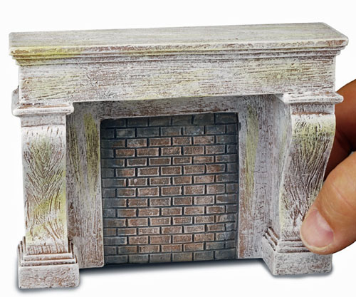 Reutter Porcelain Antique Gray Fireplace 1:12 scale
