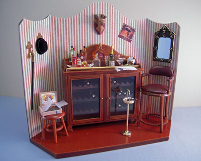 Reutter Porcelain Mini Bar Vignette 1:12 scale