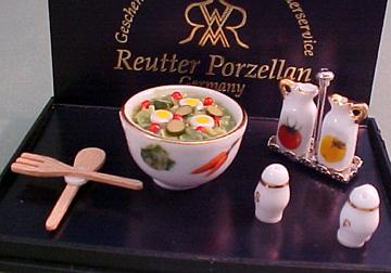 Reutter Porcelain Miniature Tossed Salad Set 1:12 scale