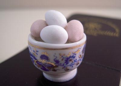 Reutter Porcelain Bowl Of Farm Fresh Eggs 1:12 scale