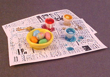 All Through The House Handcrafted Easter Egg Coloring Set 1:12 scale