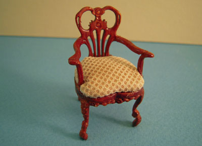 Bespaq Walnut Fair Lady Gossip Arm Chair 1:24 scale