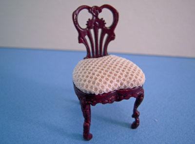Bespaq Mahogany Fair Lady Gossip Side Chair 1:24 scale