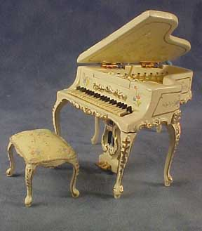 Bespaq Hand Painted Wildflower Piano Set 1:24 scale
