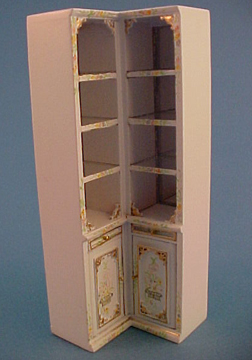 Bespaq Hand Painted Emporium Corner Shelves 1:24 scale