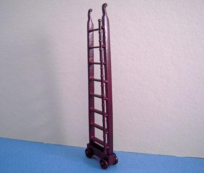 Bespaq Miniature Mahogany Emporium Ladder 1:24 scale