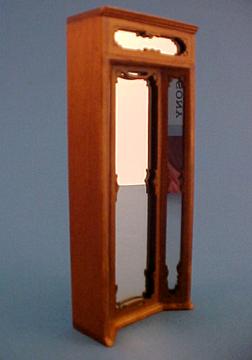 Bespaq Walnut Emporium Three Way Mirror 1:24 scale