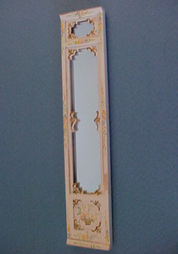 Bespaq Hand Painted Emporium Tall Wall Mirror 1:24 scale