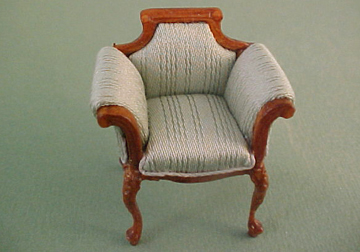Bespaq Walnut Emporium Vanity Chair 1:24 scale