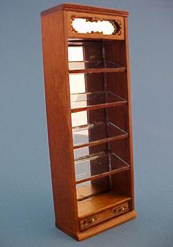 Bespaq Walnut Emporium Slant Display Case 1:24 scale