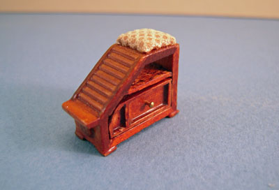 Bespaq Emporium Walnut Shoe Fitting Stool 1:24 scale