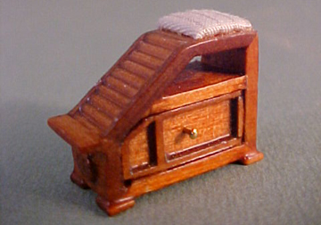 Bespaq Walnut Emporium Shoe Fitting Stool 1:24 scale