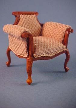 Bespaq Walnut Emporium Shoe Department Chair 1:24 scale