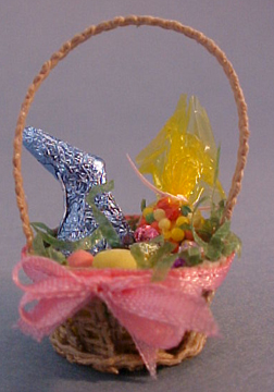 Amy Robinson Filled Easter Basket 1:12 scale