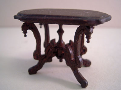 Bespaq Mahogany Vintage Fancy Victorian Carved Side Table 1:24 scale