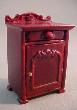 Bespaq Miniature Mahogany Belmont Nightstand 1:24 scale