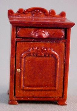 Bespaq Miniature Walnut Belmont Nightstand 1:24 scale
