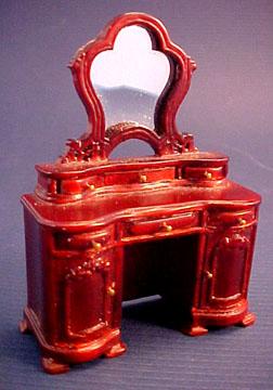 Bespaq Miniature Mahogany Belmont Vanity 1:24 scale