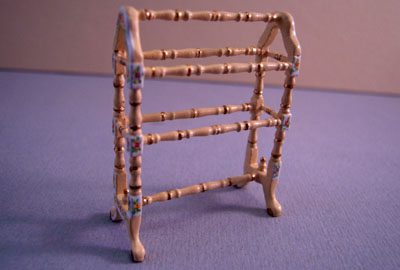 Bespaq Hand Painted Belmont Blue Quilt Rack 1:24 scale