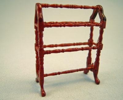 Bespaq Belmont Walnut Quilt Rack 1:24 scale