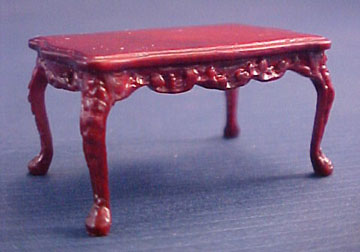 Bespaq Miniature Mahogany Haverson Adam Coffee Table 1:24 scale