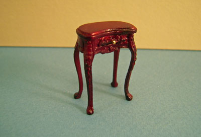 Bespaq Mahogany Haverson Kidney Side Table 1:24 scale